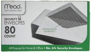 """Mead Security Envelopes 6-3/4 80 Count #75212 Home Office 3 5/8"""" x 6 1/2"""""""