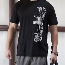 """New! 2nd Amendment• Men's """"Come And Take It"""" Made In USA Black T-Shirt• 2XL"""