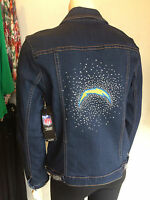 LA CHARGERS NFL *Best Selling* Womens Blinged Jean Jacket NWT $180 SIZES SM-4X