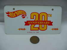 Mattel Hot Wheels 1988 Issue 20th Anniversary Bike License Plate Plastic New