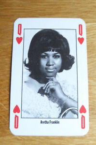 ARETHA FRANKLIN NME NEW MUSICAL EXPRESS PLAYING CARD MINT 1991