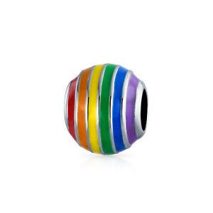 Inspirational LGBTQ Rainbow Gay Pride Rights Symbol Spacer Charm Bead