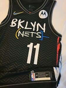 Kyrie Irving 2020-21 Brooklyn Nets City Edition Authentic Jersey Size 40+2