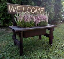 Bench Flower Planter Decorative Pot Garden Yard Garden Outdoor Decor