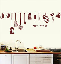 wall sticker Happy Kitchen ware wall decals 5005