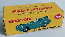 Dinky 238 Jaguar D Type Racing Car Empty Repro Box Only