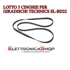 Lotto 5 Cinghie ricambio giradischi Technics slbd22 sl-bd22