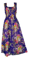 Pu 100% Cotton Long Boho Maxi Dress Party Evening Size 14 16 18 20 22 24 April