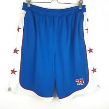 Starter Authentic 71 Apparel 76ers NBA Blue White Red Stars Basketball Sz L