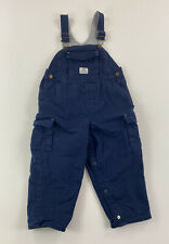Oshkosh - Toddler Boys 24 Mos - Blue Cargo Coveralls Overalls, Lined