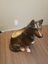Vintage Rough Collie Lassie Dog Figurine From Brazil 8� Large Size Beautiful