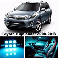 14pcs LED ICE Blue Light Interior Package Kit for Toyota Highlander 2008-2013