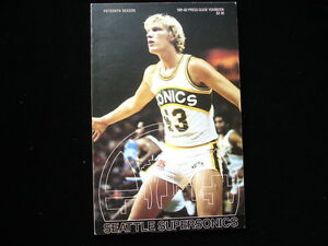 1981-82 Seattle Supersonics NBA Basketball Yearbook