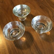 3 Ikea Dual Purpose Candle Holders- 2 Clear 1 Gold - K. & M. Hagberg