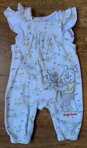 💕✨Disney Baby Girls Summer Winnie Dungaree Outfit 3-6 months (Immaculate) ✨💕