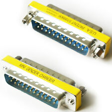 25 WAY RS232 Male To Plug Adapter/Coupler-Serial Pin Data Converter DB25 DTE