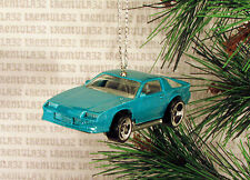 1980's CHEVY CAMARO Z28 '80's TEAL GREEN CHRISTMAS ORNAMENT XMAS