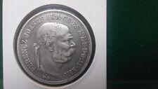 ÖSTERRICH HUNGARY FRANZ JOSEPH 5 KORONA  1900  SILVER 0,900  GVF