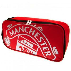Manchester United FC Boot Bag  - Shoes Boots - Zip Fasten - Official Merchandise