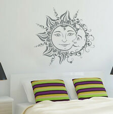 Moon Sun Wall Decals Symbol Nights And Day Stickers Bohemian Boho Decor FD128