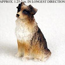 Australian Shepherd Mini Resin Hand Painted Dog Figurin