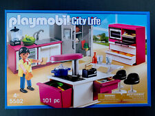 Playmobil 5582 Modern Kitchen City Life Funky Cool Kitchen 101 Piece Set