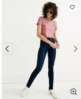 "Madewell skinny skinny jeans size 25 Raise 8""Waist 13.5""Hip 16""Inseam 29""G"