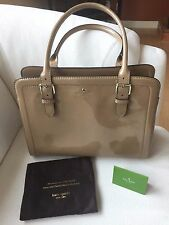KATE SPADE CARLISLE STREET MILES NUDE/BEIGE PATENT LEATHER HANDBAG BAG MSRP $428
