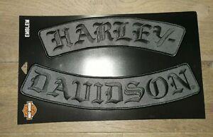 Harley-Davidson Patch / Aufnäher Emblem Schriftzug Embroidered Script  EM022757