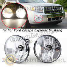 Clear Fog Lights w/ Bulbs For Chevy Avalanche Tahoe Suburban GMC Yukon 07-14