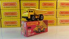 1976 Matchbox Lesney Superfast #58 Yellow Faun Dump Truck (MIB) FREE SHIPPING