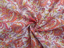 John Lewis cotton 100%, 'Orange Paisley', (per metre) dress fabric, sewing,