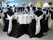 Black Polyester Wedding decoration Banquet Round/Square Top Chair Cover FREE S&H