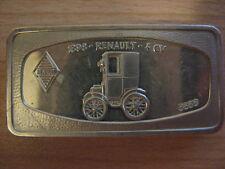 INTERCOINS 1898 Renault 4 CV 1.9 oz Ag SILVER BAR Silberbarren #17.977