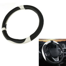 1* 15'' 38cm Sport Leather Anti-Slip Car Auto Steering Wheel Cover Decoration