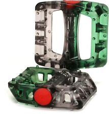 Odyssey Twisted PC BMX Platform Pedals Smoke / Lime 9/16