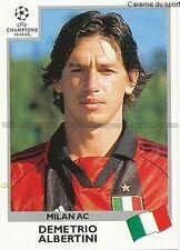 N°299 ALBERTINI MILAN.AC UEFA CHAMPIONS LEAGUE 1999/2000 STICKER PANINI ITALIA