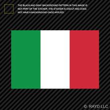 "4"" Italian Flag Sticker Die Cut Decal Self Adhesive Italy"