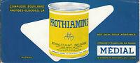 Buvard Vintage  Prothiamine  Laboratoires Médial
