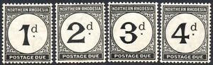 Northern Rhodesia Postage Dues 1929-52 set of 4, SG.D1/4, mint, cat.£29