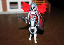 Playmobil personnage chevalier dragon rouge avec ailes Moyen Âge ref cc