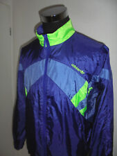 vintage 80`s ADIDAS Nylon Jacke Sportjacke jacket glanz shiny oldschool D8 L/XL