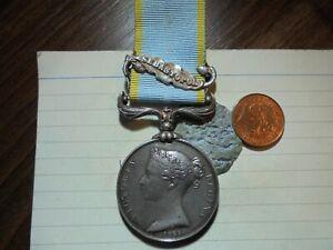 Crimea War Medal 1854-56 with Sebastopol clasp -  Royal Artillery        (MB343)