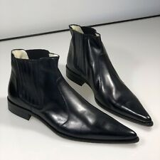 "Rare Pointy Italian Leather Shoes - ""Winkle Pickers"" - Chelsea Boot Style"