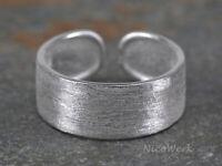 Silberring Bandring Schlicht Matt Ring Silber 925 Verstellbar Offen Damenringe