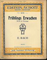 E. Bach - Frühlings Erwachen ~ alte, übergroße Noten, Piano