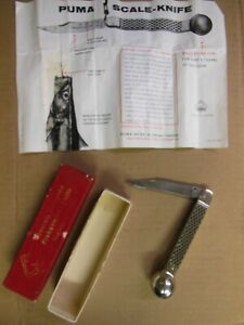 old Puma Fishing Knife with Instructions & Factory Red Box - Solingen Germany