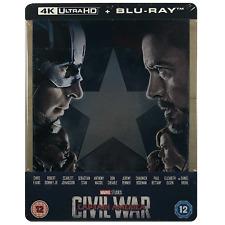 Captain America Civil War 4k Ultra HD Limited Edition Steelbook BLURAY UK
