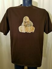 Star Wars Retro Style CHEWIE Chewbacca Mens T-Shirt Short Sleeve Brown XL