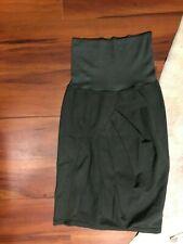 Prairie Underground Khaki Green Skirt with Elastic Waist + Pleated Detail Sz S